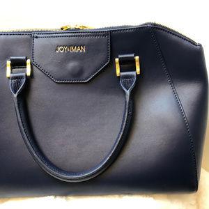 Joy & Iman Navy Leather Handbag